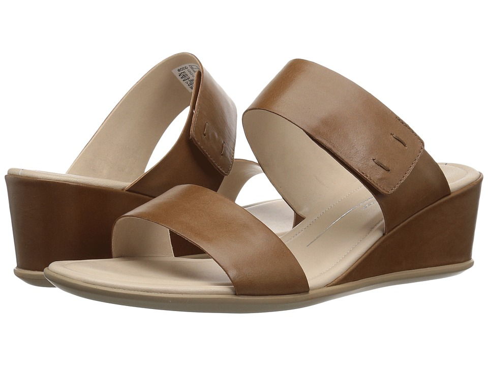ECCO Shape 35 Wedge 2-Strap (Camel) Wedges