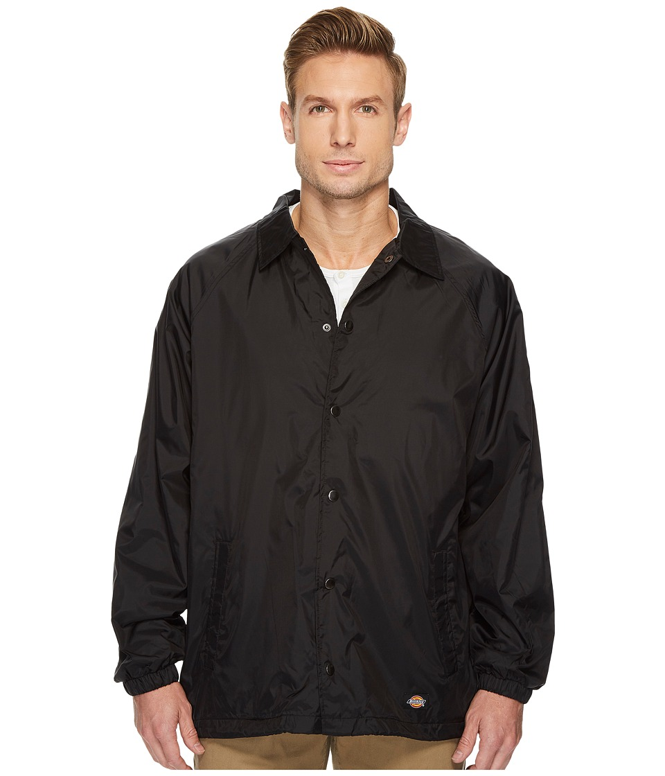 Dickies - Snap Front Nylon Jacket (Black) Mens Coat