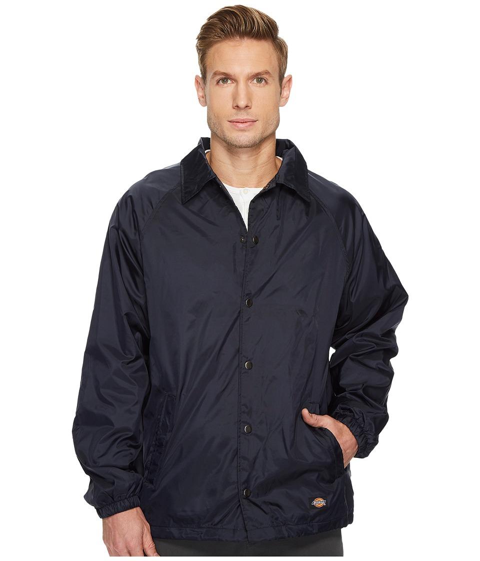 Dickies Snap Front Nylon Jacket (Dark Navy) Men's Coat