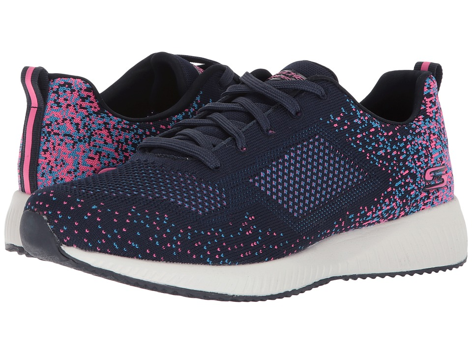 BOBS from SKECHERS Bobs Squad Awesome Sauce (Navy/Pink) Women