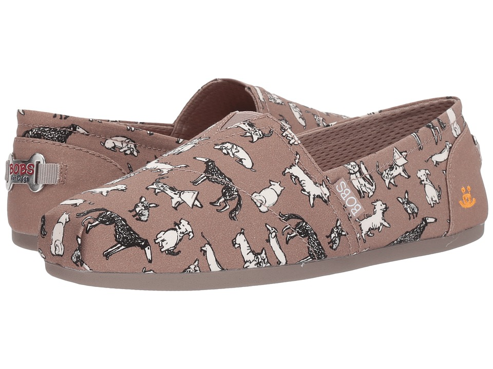 BOBS from SKECHERS Plush Dream Doodle (Taupe) Women