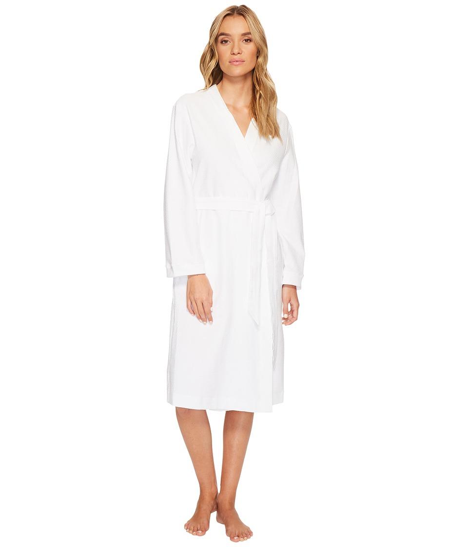 Hanro Robe Selection Cotton Pique Robe (White) Women's Robe