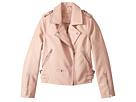 Blank NYC Kids Vegan Leather Moto Jacket in Blushing Hard (Big Kids)