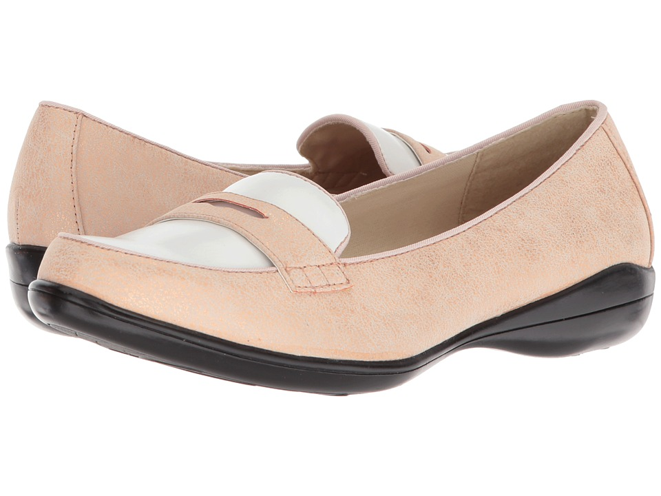 1950s Style Shoes Soft Style Daly Rose CloudWhite Vamp Womens Flat Shoes $55.00 AT vintagedancer.com