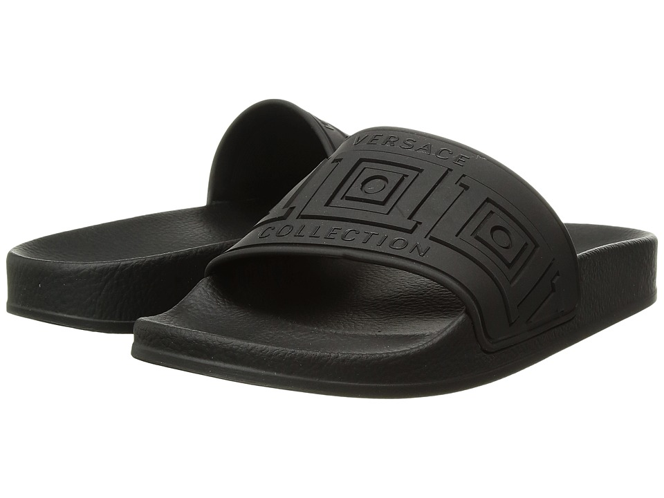 Versace Collection - Slipper Rubber Sole H.05 PVC St.Frame (Nero/Nero/Fondo Nero) Women's Sandals