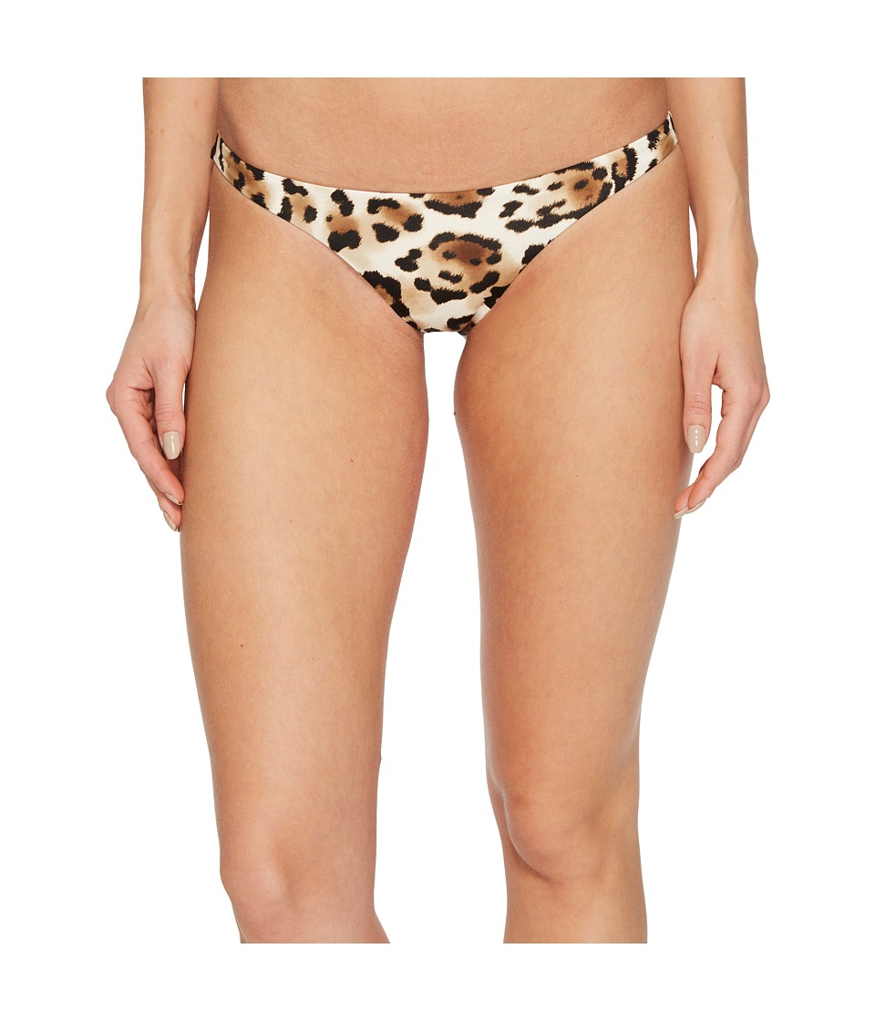 Vitamin A Swimwear - Samba Ruched Back Bottom (Snow Leopard) Womens Swimwear
