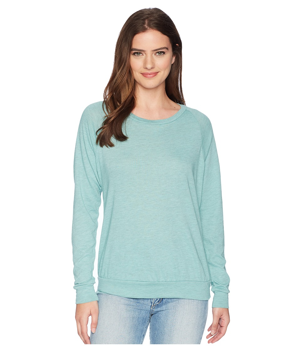 Alternative - Eco-Heather Slouchy Pullover (Jade Sea Overdye Oatmeal) Womens Long Sleeve Pullover