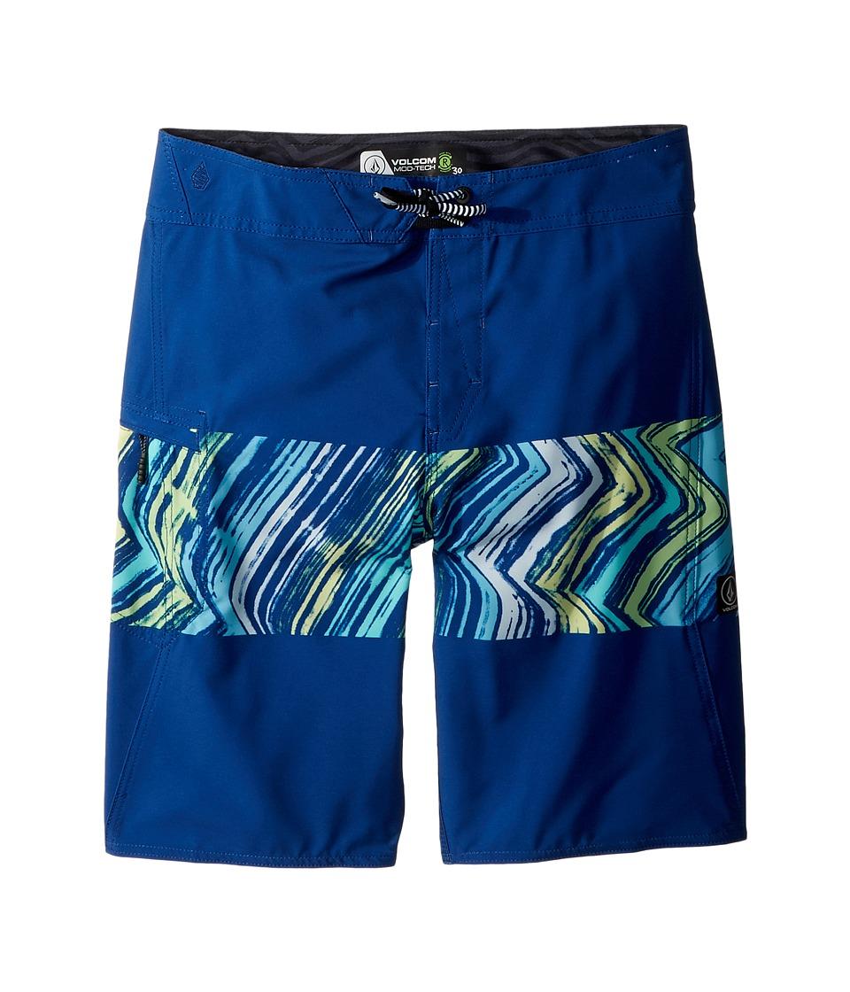 Volcom Kids Macaw Mod Boardshorts (Big Kids) (Camper Blue) Boy