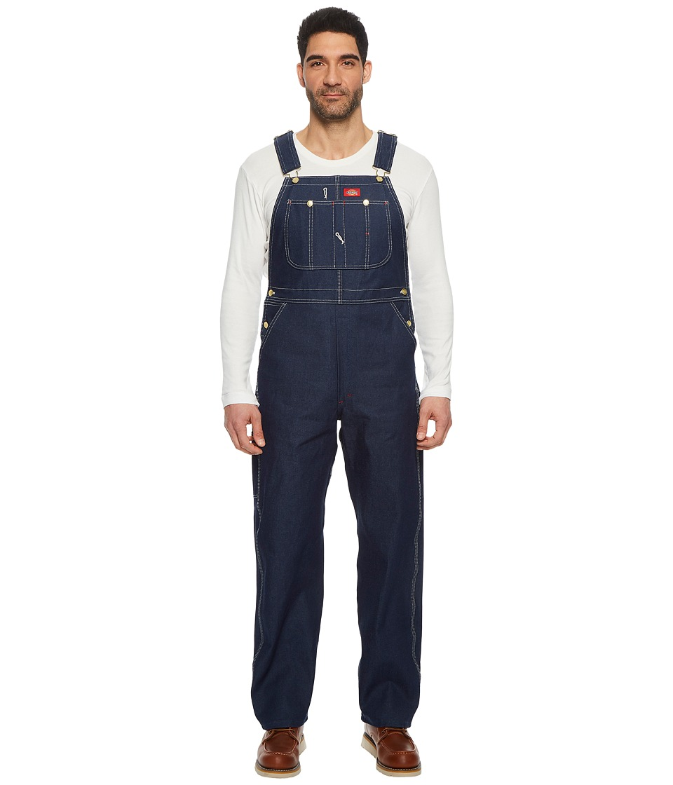 Dickies - Rigid Denim Bib Overalls (Indigo Blue) Mens Overalls One Piece