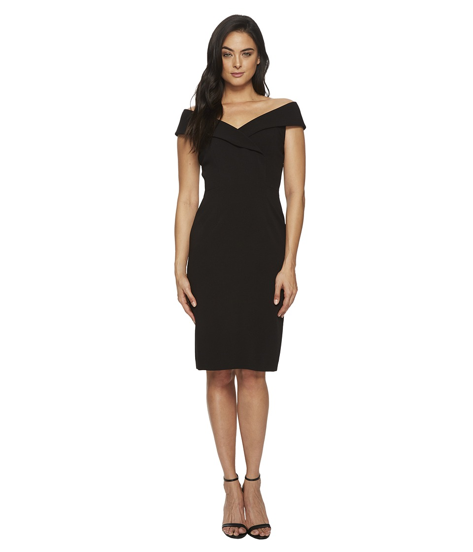 Tahari by ASL - Off Shoulder Sheath Dress (Black) Womens Dress
