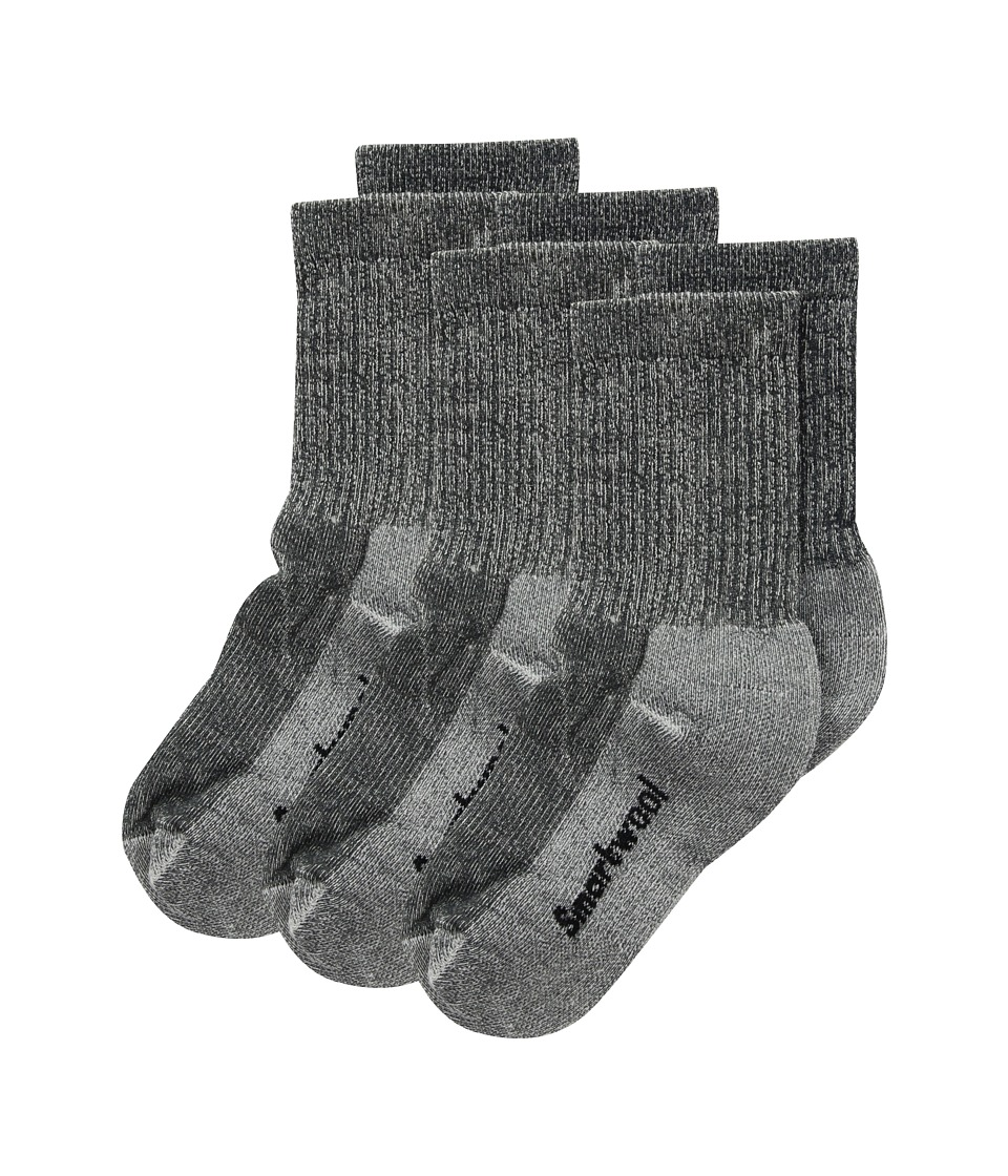 Smartwool Hike Light Crew 3-Pack (Toddler/Little Kid/Big Kid) (Charcoal) Crew Cut Socks Shoes