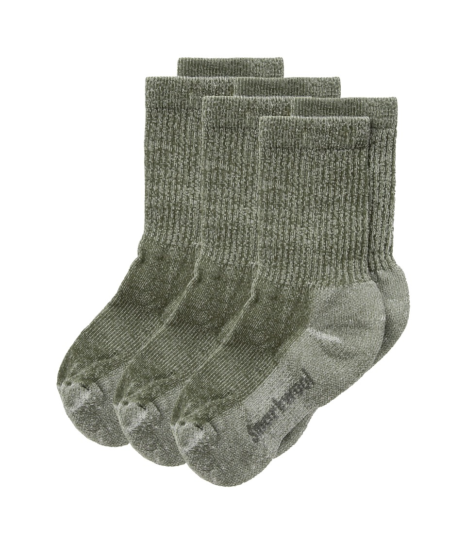 Smartwool Hike Light Crew 3-Pack (Toddler/Little Kid/Big Kid) (Loden) Crew Cut Socks Shoes