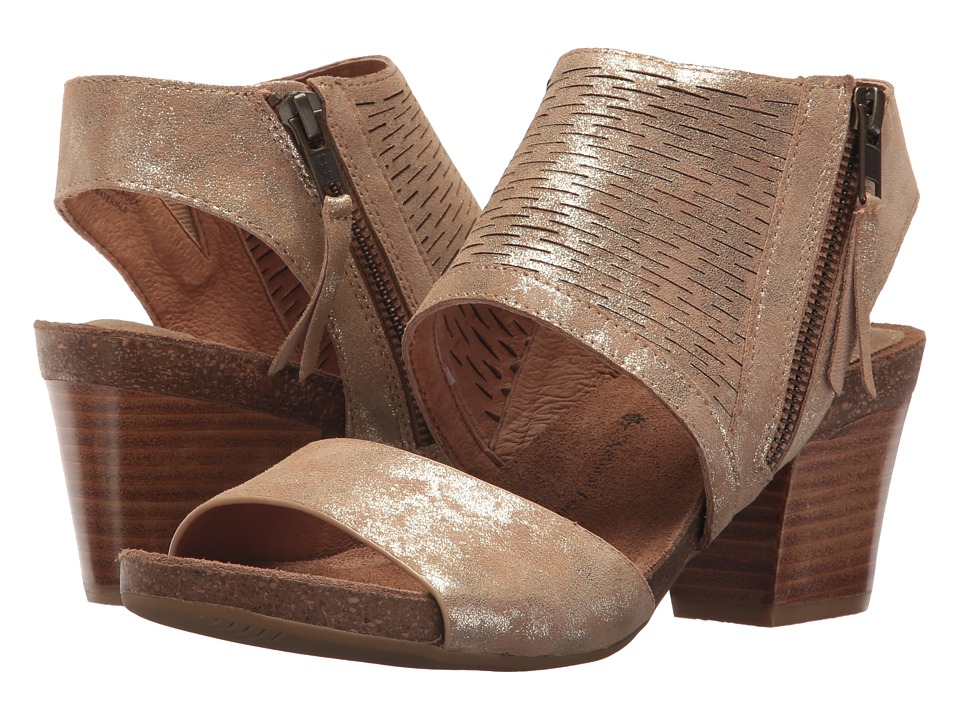 Sofft Milan (Platino Distressed Foil Suede) Women's Shoes