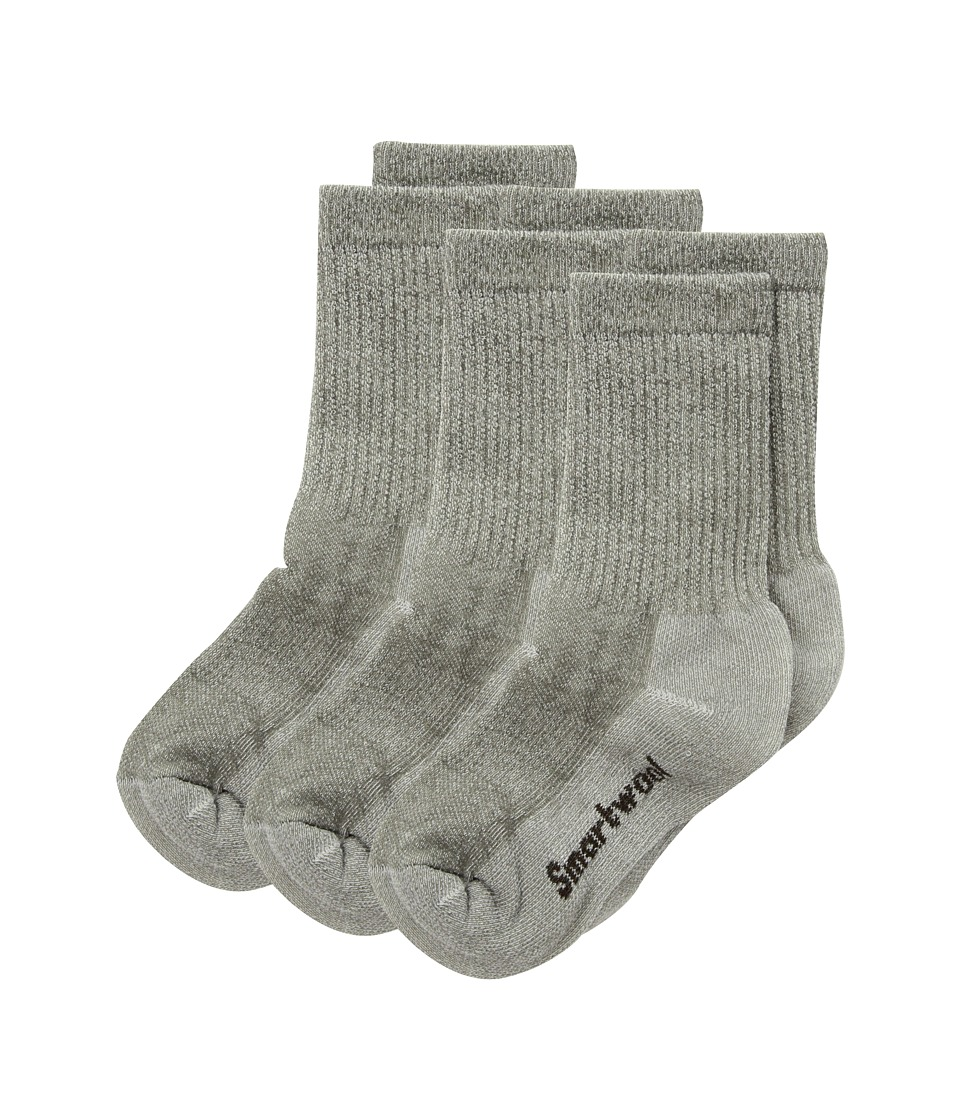 Smartwool Hike Medium Crew 3-Pack (Toddler/Little Kid/Big Kid) (Taupe) Crew Cut Socks Shoes