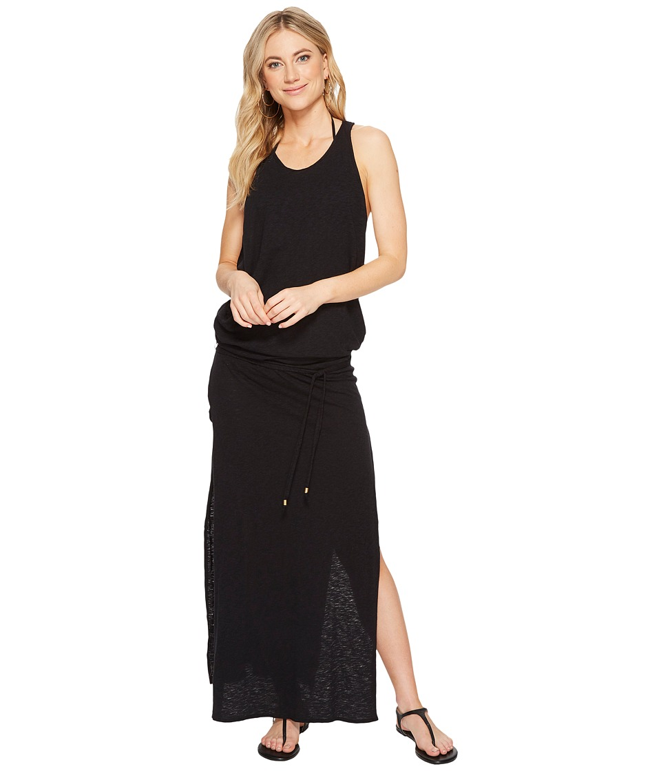 Vitamin A Swimwear Island Maxi Cover-Up (Eco Cotton Black) Women