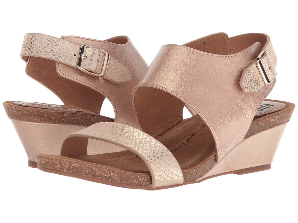 Sofft Vanita (Champagne/Gold Bruce Metal/Shell Suede) Wedges