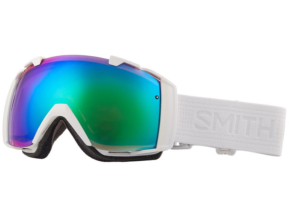 Smith Optics I/O Goggle (Whiteout Frame/Chromapop Everyday Green Mirror/Chromapop Storm R) Goggles