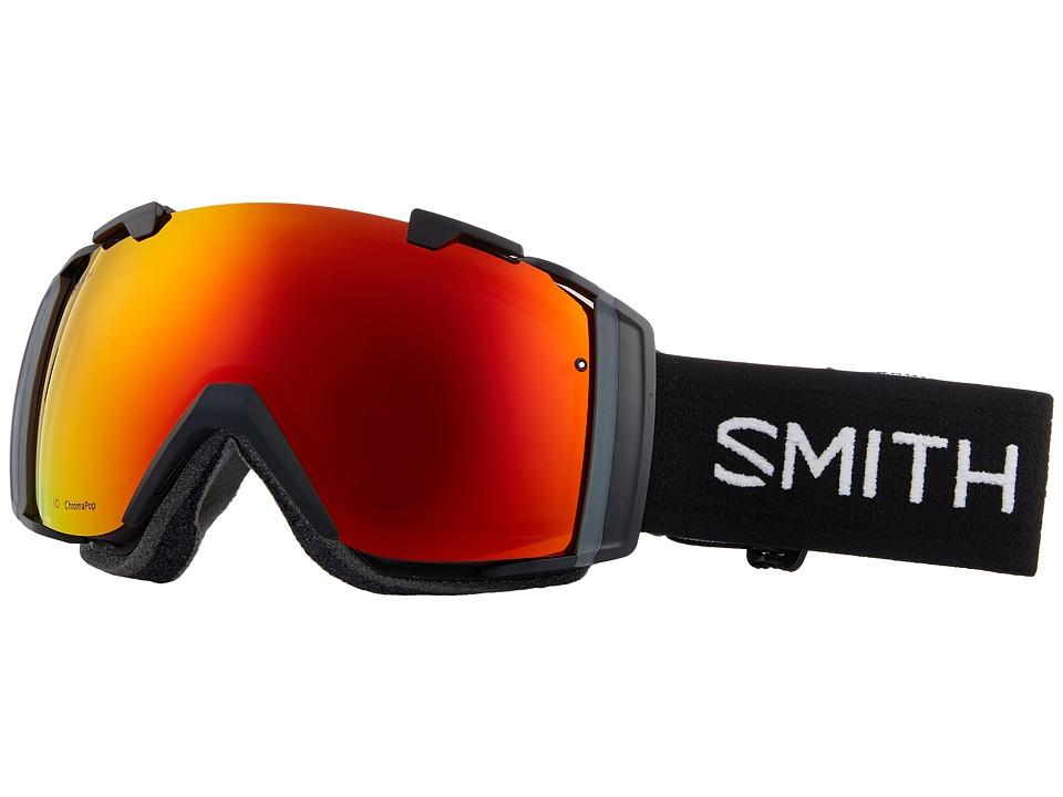 Smith Optics I/O Goggle (Black Frame/Chromapop Everyday Red Mirror/Chromapop Storm Rose F) Goggles