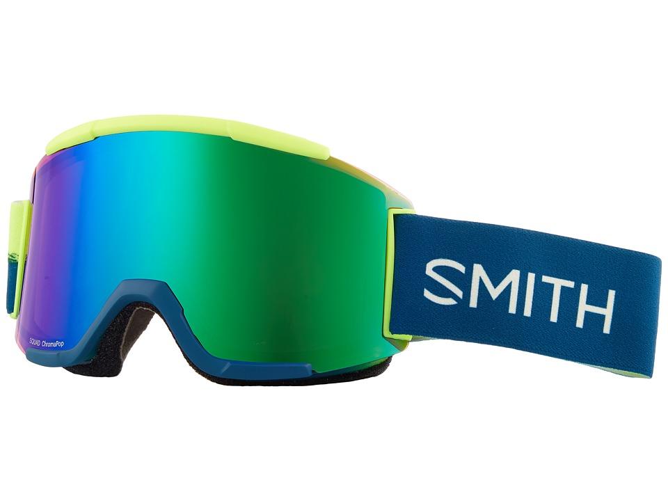 Smith Optics Squad Goggle (Acid Resin Frame/Chromapop Everyday Green Mirror/Yellow) Goggles
