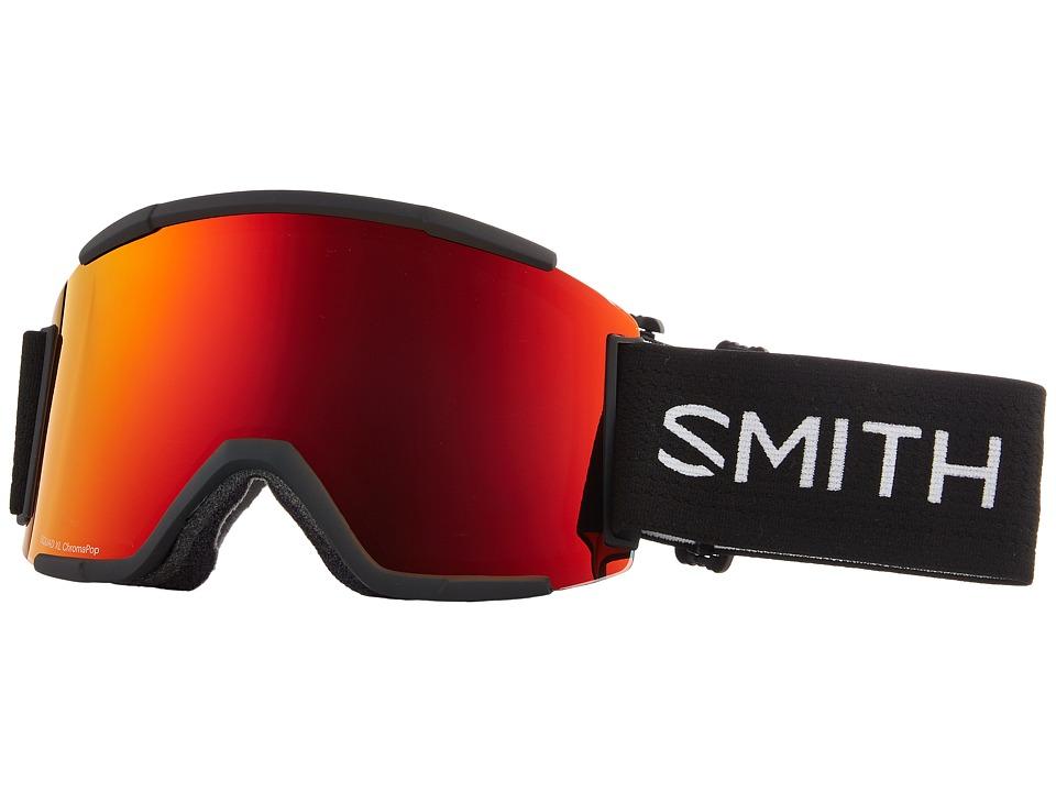 Smith Optics Squad XL Goggle (Black Frame/Chromapop Sun Red Mirror/Chromapop Storm Rose Flash) Snow Goggles