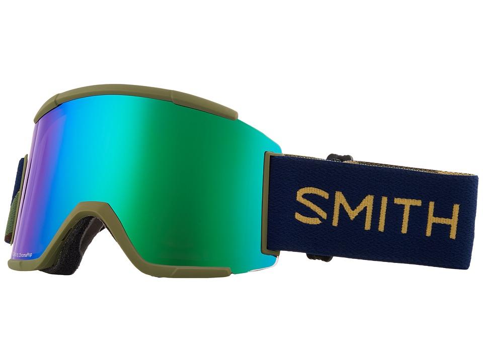 Smith Optics Squad XL Goggle (Navy Camo Split Frame/Chromapop Everyday Green Mirror/Chromapop) Snow Goggles