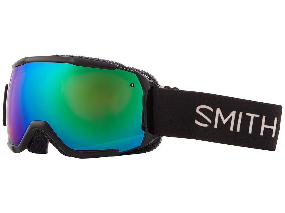Smith Optics Grom CP Goggle (Youth Fit) (Black Frame/Chromapop Everyday Green Mirror/Extra Lens) Snow Goggles