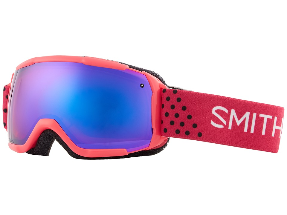 Smith Optics Grom CP Goggle (Youth Fit) (Pink Monaco Frame/Chromapop Everyday Violet Mirror/Extra Lens) Snow Goggles