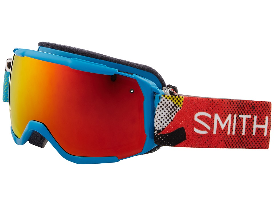 Smith Optics Grom CP Goggle (Youth Fit) (Cyan Burnside Frame/Chromapop Everyday Red Mirror/Extra Lens) Snow Goggles