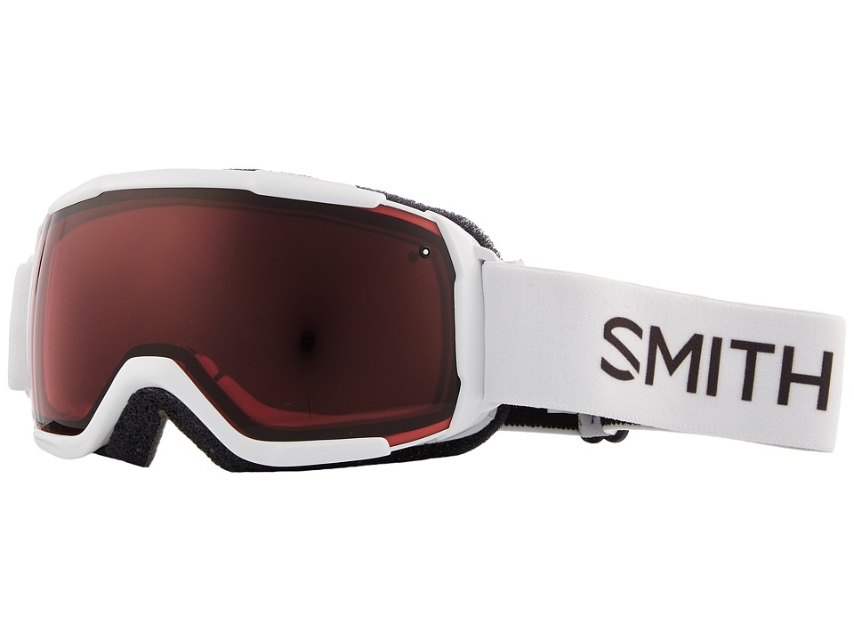 Smith Optics Grom CP Goggle (Youth Fit) (White Frame/Chromapop Everyday Rose/Extra Lens) Snow Goggles