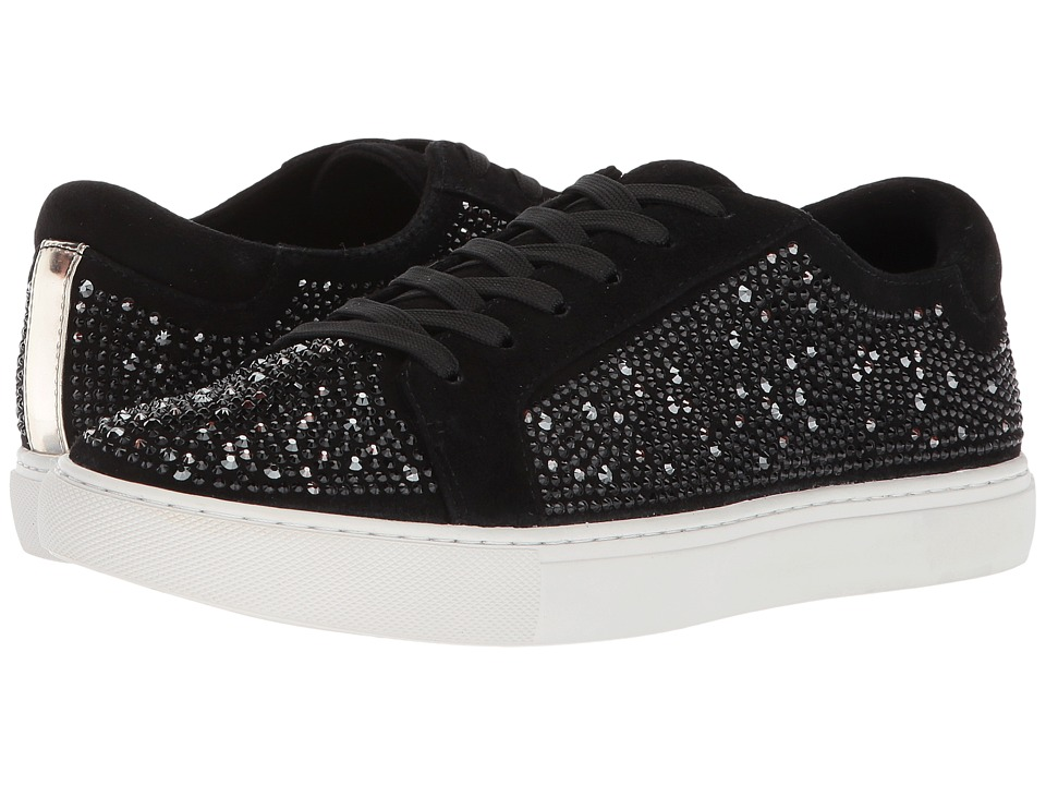 Kenneth Cole New York Kam Crystal Swarovski(r) (Black Suede) Women