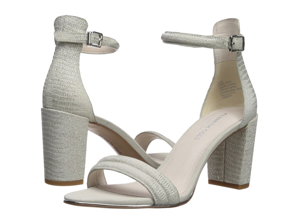 Kenneth Cole New York - Lex (Silver Metallic Embossed Lea...
