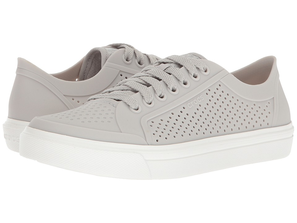 Crocs - CitiLane Roka Court (Pearl White) Womens Lace up casual Shoes