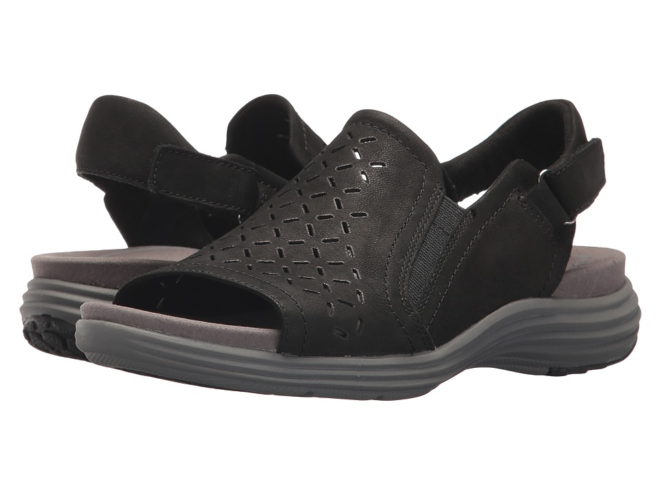 Aravon Beaumont Peep Sling (Black) Women's Shoes