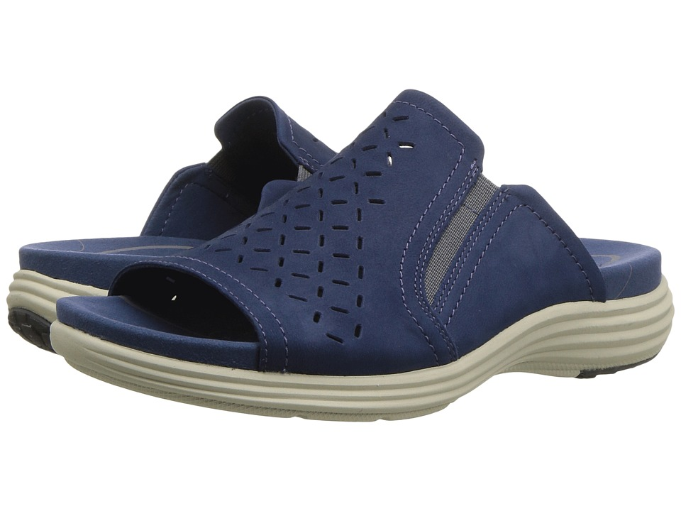 Aravon Beaumont Slide (Blue) Women's Shoes