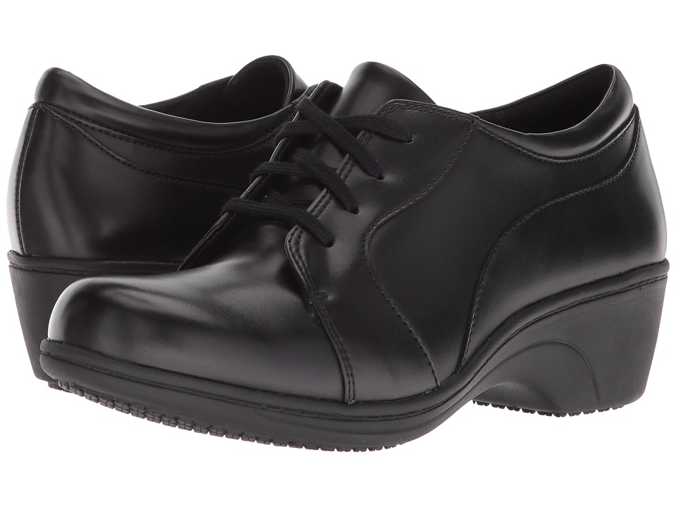 Aravon Hanover Lace (Black Leather) Women's Shoes