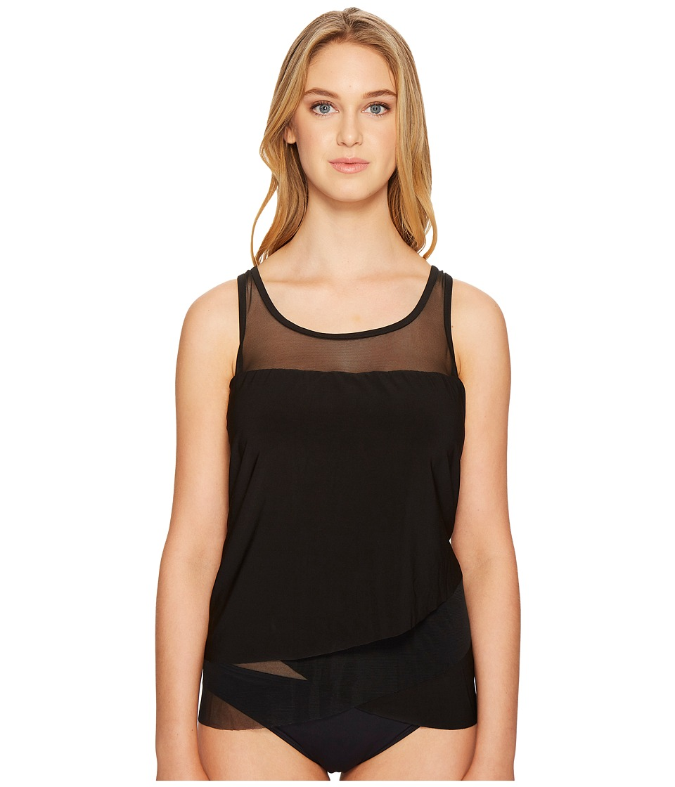 Miraclesuit Solid Mirage DD Cup Top (Black) Women