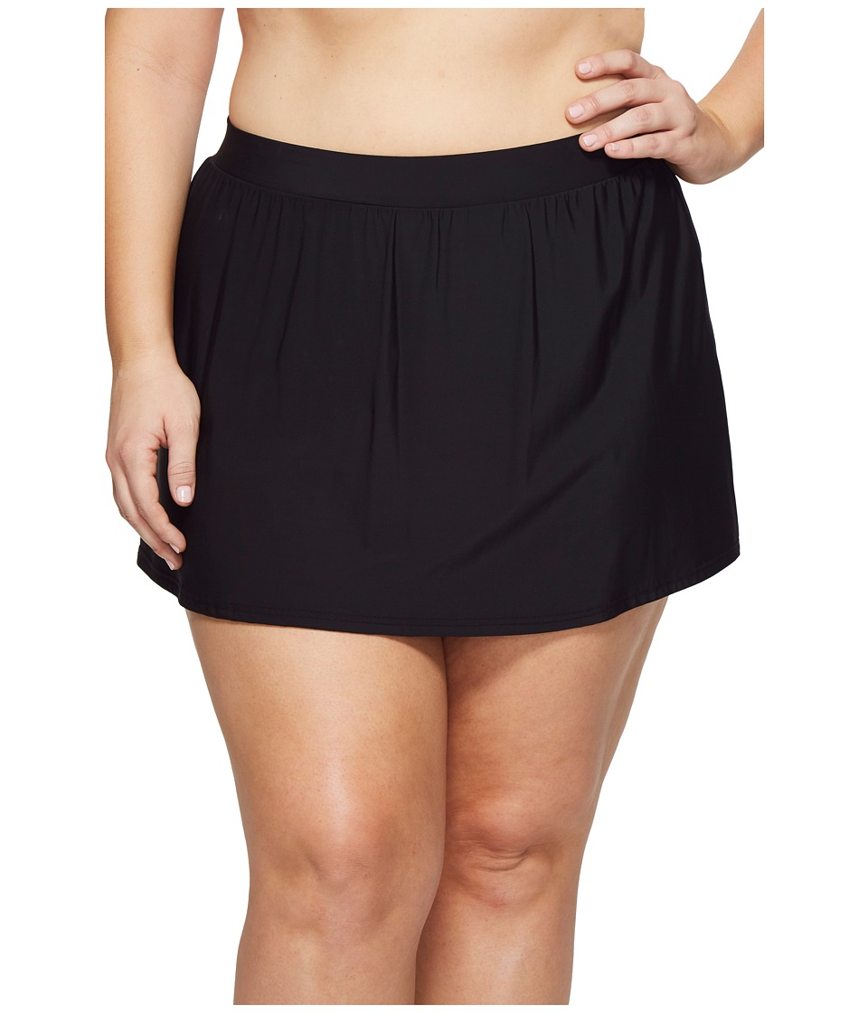 Miraclesuit Plus Size Skirted Pants Bottom (Black) Women