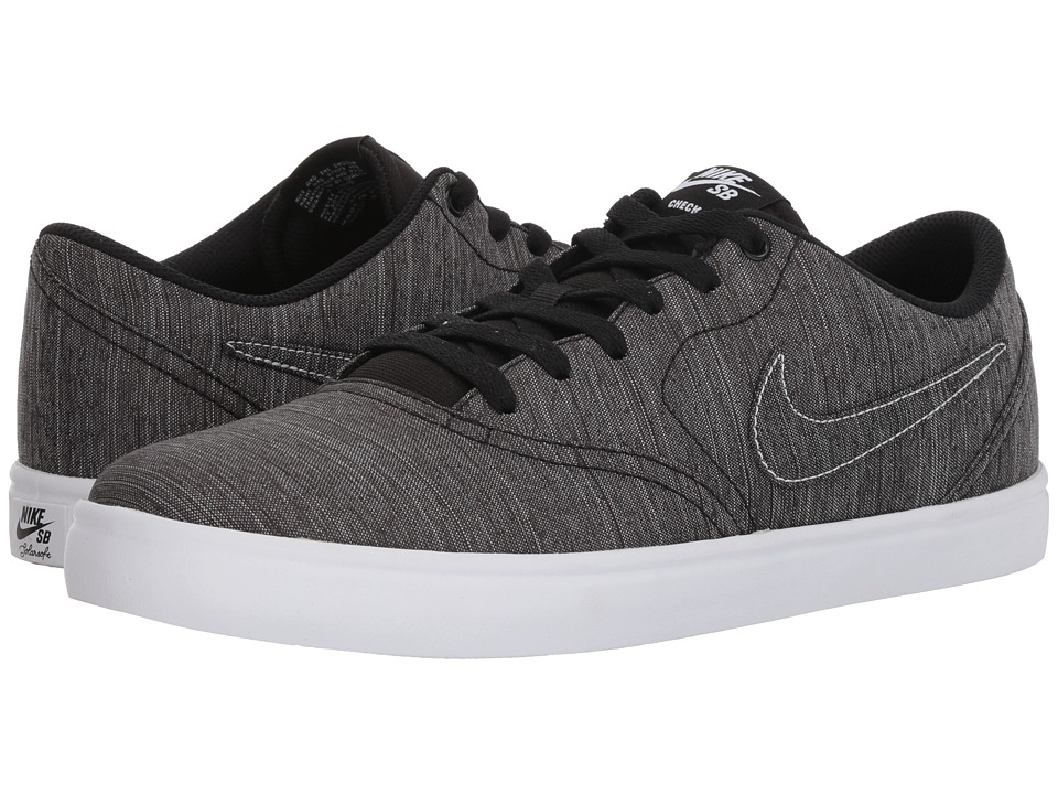 Previous recognized brands 42162 e9839  Nike SB - Check Solar Canvas Premium  (Black Black White) Men s Skate great ... b6b14923301b9