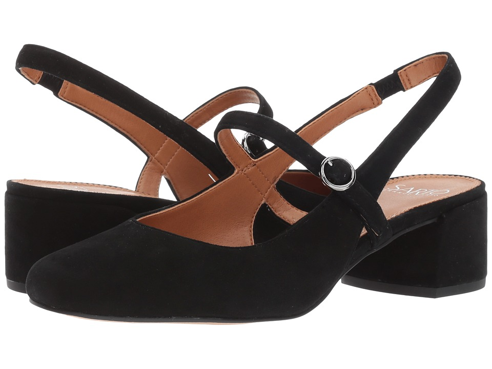 Franco Sarto Hutton (Black Kid Suede) Women's Sling Back ...