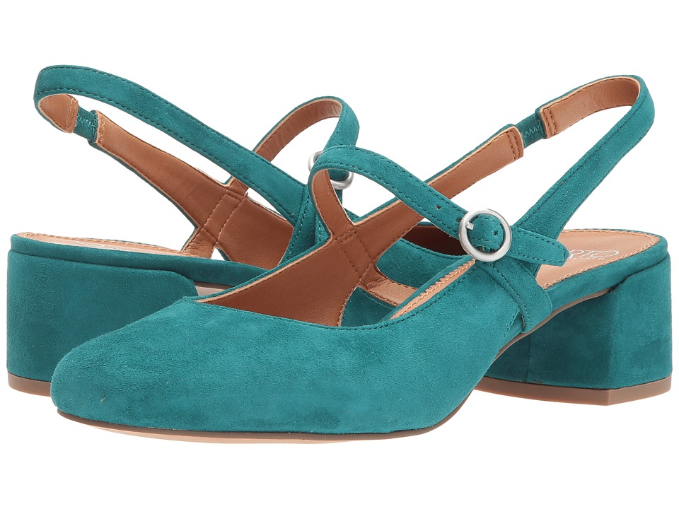 Franco Sarto Hutton (Everglade Kid Suede) Women's Sling B...