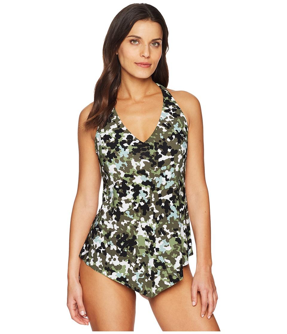 Magicsuit - G.I. Jane Taylor Top (Olive) Womens Swimwear