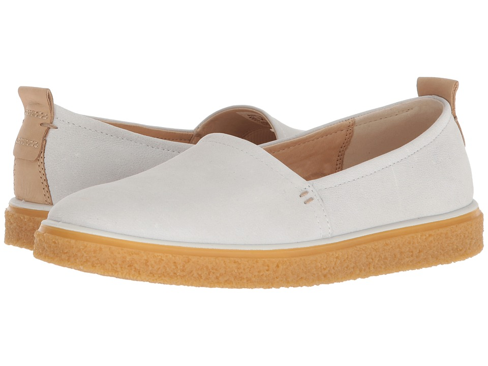 ECCO Crepetray Slip-On (White) Slip-On Shoes