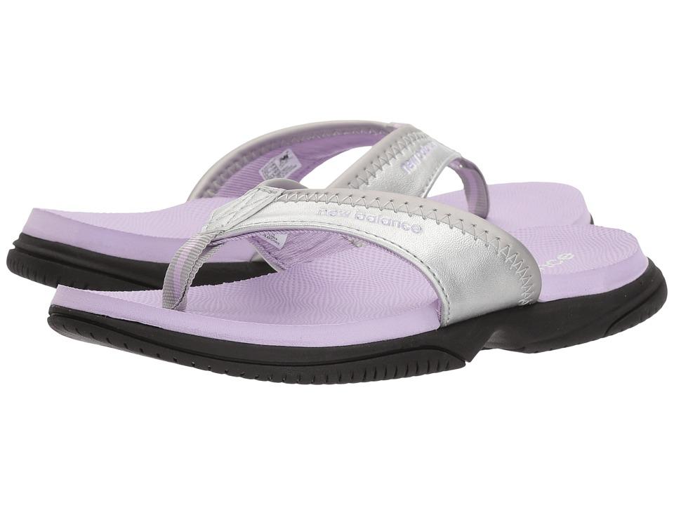 New Balance Kids JoJo Thong (Little Kid/Big Kid) (Silver/Violet) Girls Shoes