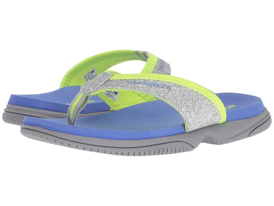 New Balance Kids JoJo Thong (Little Kid/Big Kid) (Grey/Blue) Girls Shoes