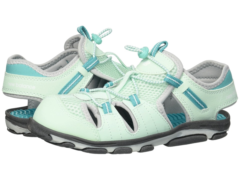 New Balance Kids - Adirondack Sandal (Toddler/Little Kid) (Grey/Mint) Girls Shoes