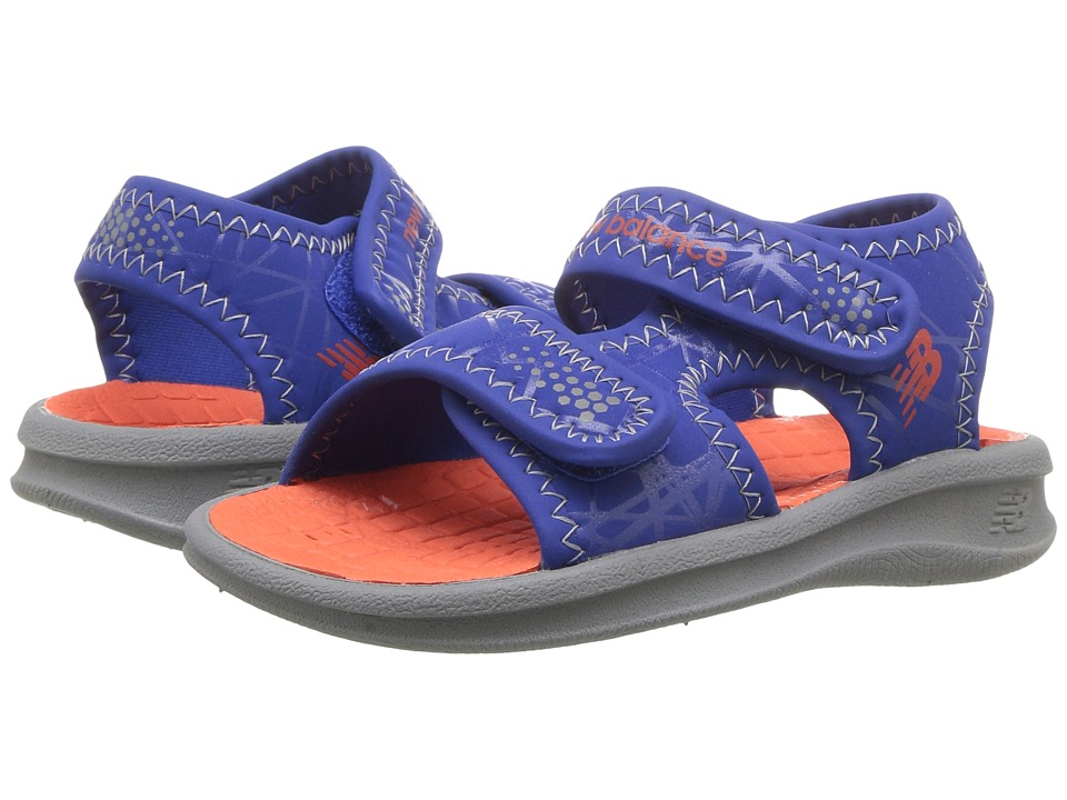 New Balance Kids - Sport Sandal (Toddler/Little Kid/Big Kid) (Grey/Blue/Orange) Boys Shoes