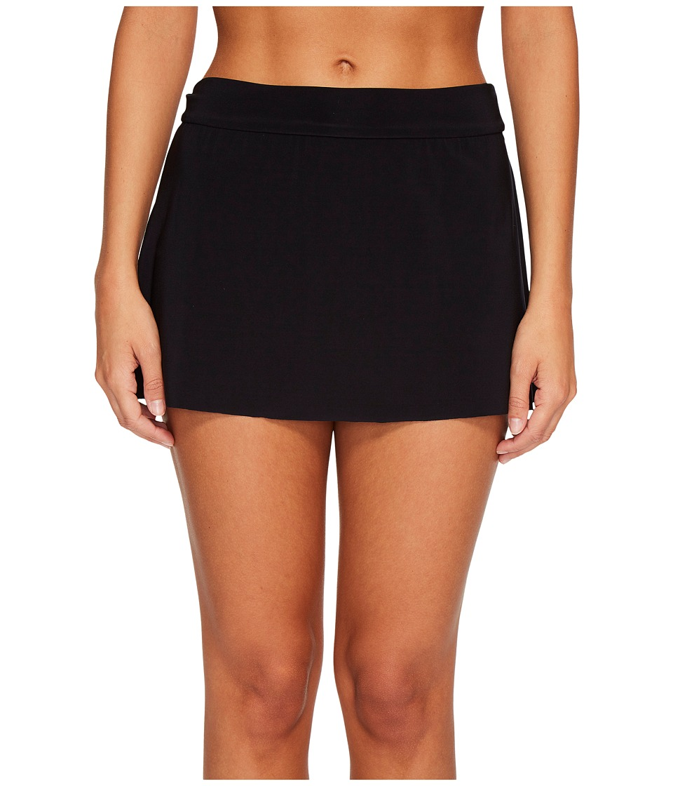 Magicsuit Solid Jersey Tennis Skirt Bottom (Black)