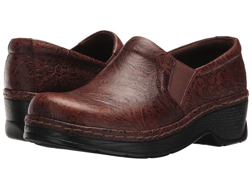 Klogs Footwear Naples (Brown JW Floral) Clogs