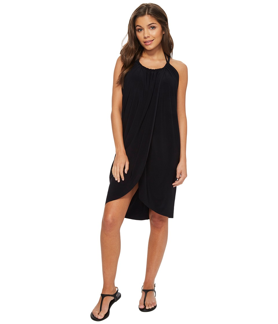 Magicsuit Draped Cover-Up (Black) Women