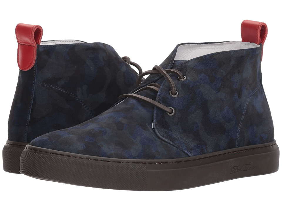 Del Toro - Chukka Sneaker (Navy Camo) Mens Lace up casual Shoes